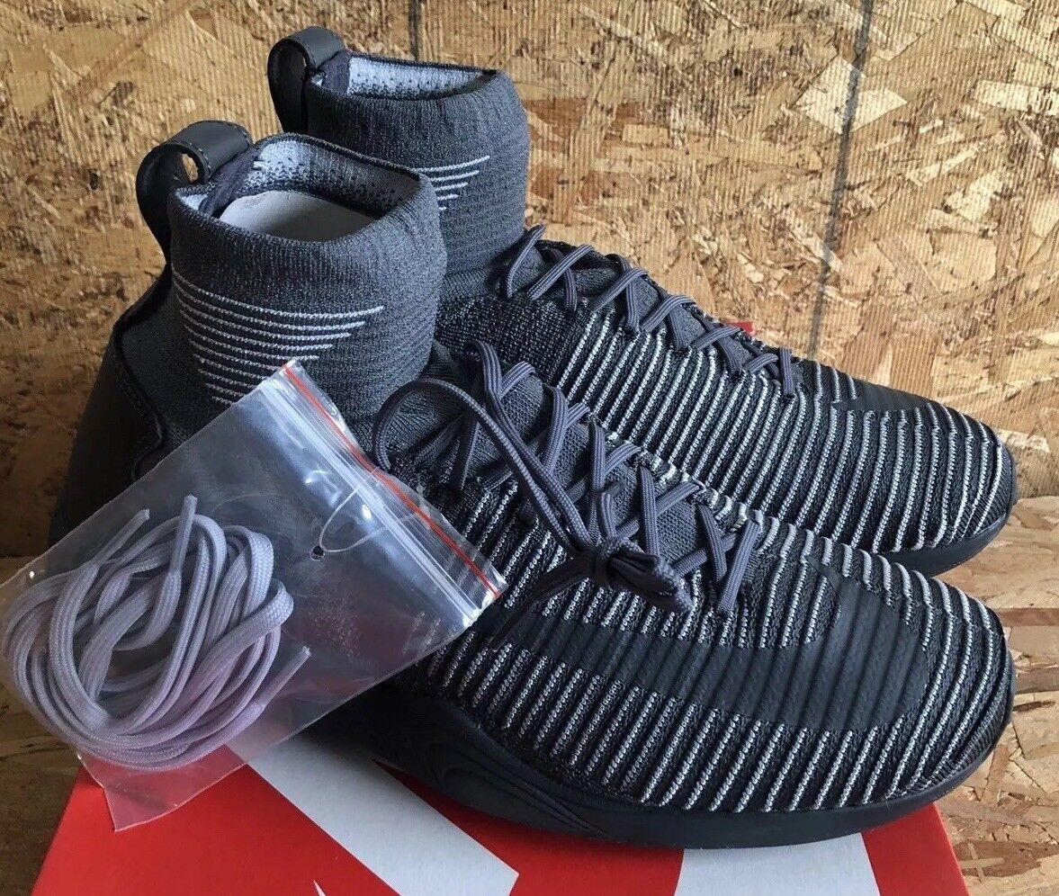21dce5c2c8a7 Nike Zoom Mercurial XI FK Dark Grey Grey Grey Anthracite Wolf Gray Sz 12  NIB 844626