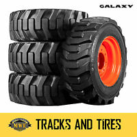 4 New 10-16.5 Galaxy XD2010 Skid Steer Tires - Choose From 7 Rim Colors!