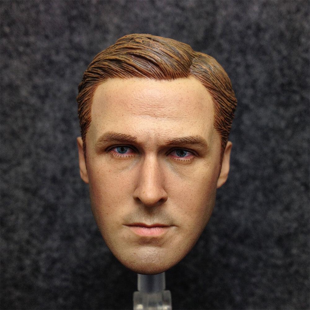 1 6 Scale Head Sculpt Ryan Gosling as Driver in Drive 12  Hot Toys Figure Body