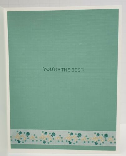Handcrafted Greeting Card You/'re the Best Friendship Lucky
