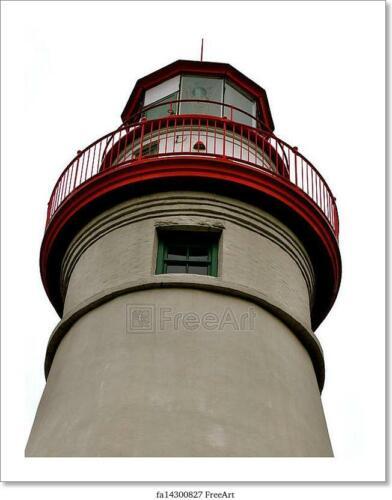 Wall Art Poster Marblehead Lighthouse Art//Canvas Print Home Decor