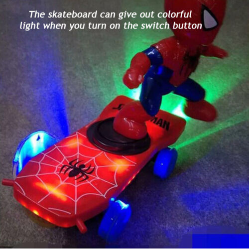 Electronic Stunt Scooter Skateboard 360° Rotation Sound Colorful Lights Kids Toy
