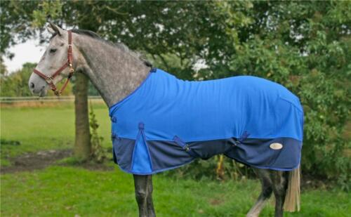 RUG IN BLUE KNIGHT RIDER  5 FEET 3 INCHES HORSE FLEECE BLANKET