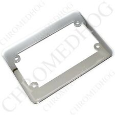 """Chrome """"Smooth"""" License Plate Frame - Motorcycle Tag Number Bracket Lic Harley"""