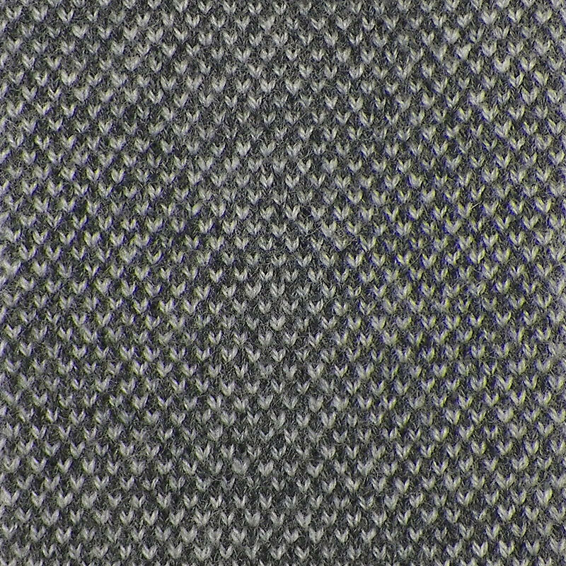SAKS FIFTH AVENUE Mens Gray BIRDSEYE Handmade Cashmere Knit Tie Italy NWT