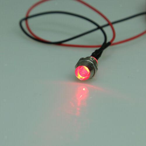 5pcs Car Van Boat Truck Gauge Instrument Panel Indicator LED Light Red 12V