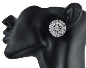 Cubic-Zirconia-Earring-Big-Circle-Elegant-Stud-Platinum-Finish-D2
