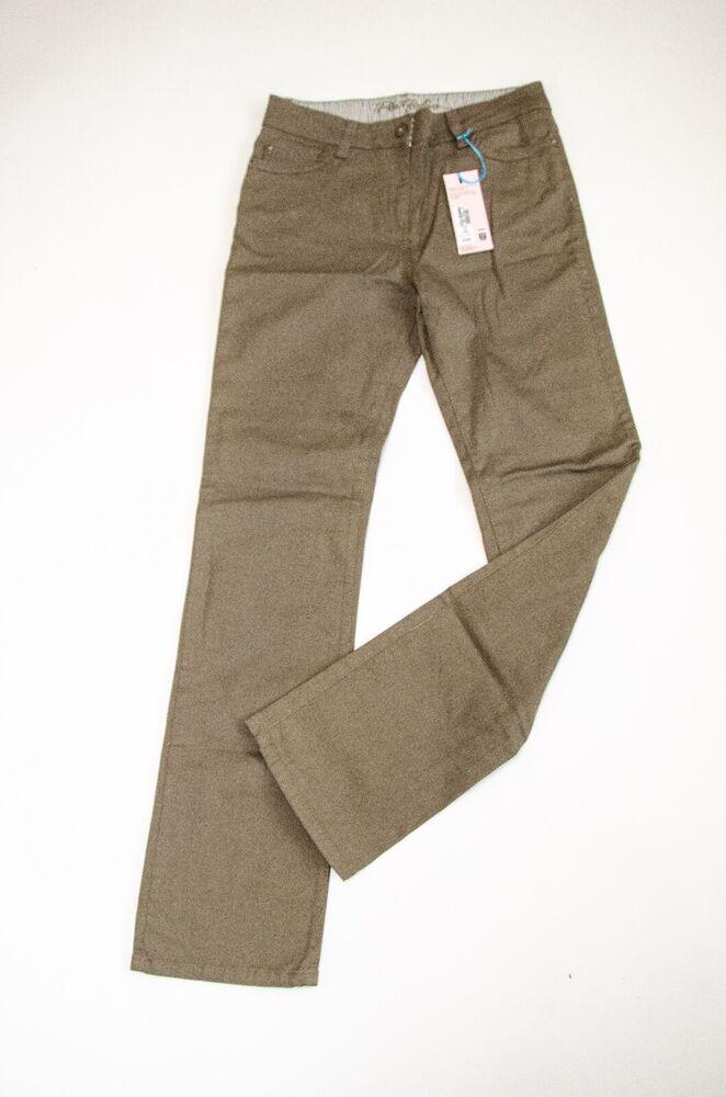 """Bnwt Femmes """"marks Et Spencer"""" Kaki Pantalon Taille 12 Long Rrp £ 25"""