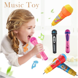 Plastic-Echo-Sound-Microphone-Mic-Built-in-Music-Voice-Kids-Pretend-Playing-Toy