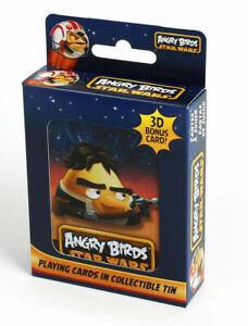 Angry-Birds-Star-Wars-Carte-da-Gioco-con-TIN-METALLO-Han-Solo-NUOVO-SIGILLATO