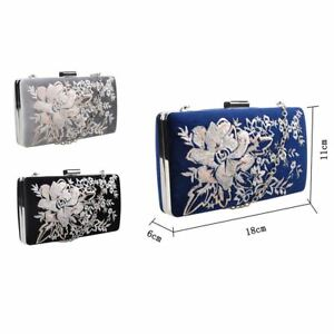 dc84a1662fe2 Image is loading Women-039-s-Designer-Style-Embroidered-Flower-Clutch-