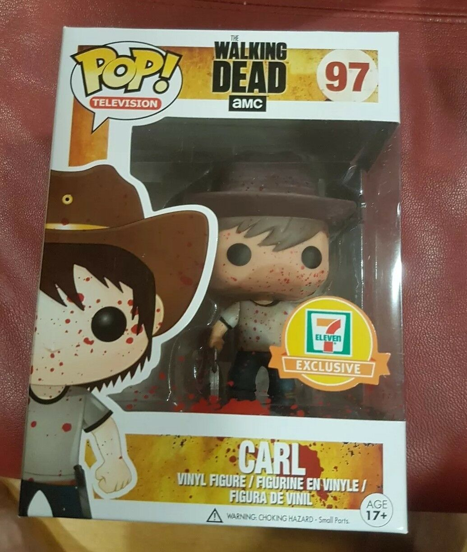 Walking Dead Funko POP 7-Eleven (7-11) Exclusive Bloody Carl Carl Carl  97 9ffbf7