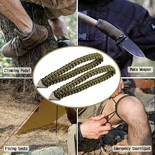 36 inches Fast Wood Pocket Chainsaw with Paracord Handle Folding Chain Hand Saw