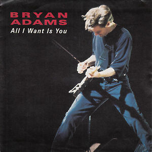 BRYAN-ADAMS-All-I-Want-Is-You-PICTURE-SLEEVE-7-034-45-record-juke-box-strip-RARE