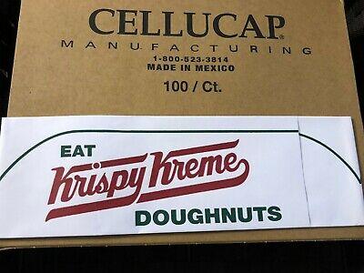 NEW Lot 24 Krispy Kreme Paper Hats Employee Party FREE SHIPPING Doughnuts Donuts