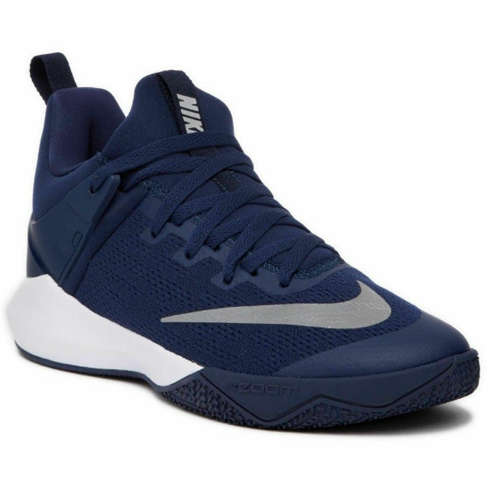Nike Zoom Shift TB Basketball shoes 12.5 bluee White Grey Silver 897811 401 NEW