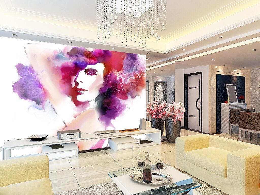 3D Charmant Damenschuhe Photo Papier Peint en Autocollant Murale Plafond Chambre Art