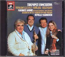 Maurice ANDRE Vivaldi Telemann Stölzel MARRINER CD Trumpet Trompete Concerto EMI