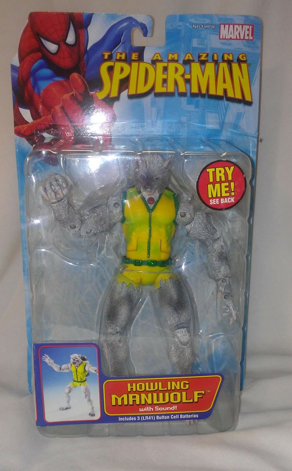 HOWLING MANWOLF AMAZING SPIDER-MAN TOY BIZ 2005