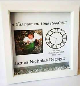 Personalised new born baby gift birthday box picture frame childs image is loading personalised new born baby gift birthday box picture negle Images