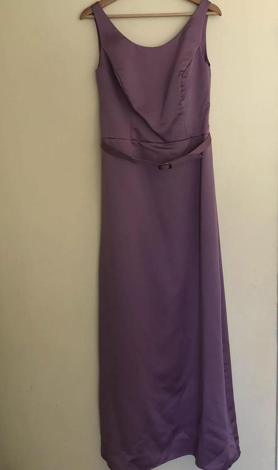 Alfred Angelo Women's Classic Purple Formal Wedding Bridesmaid PromDress Size 12