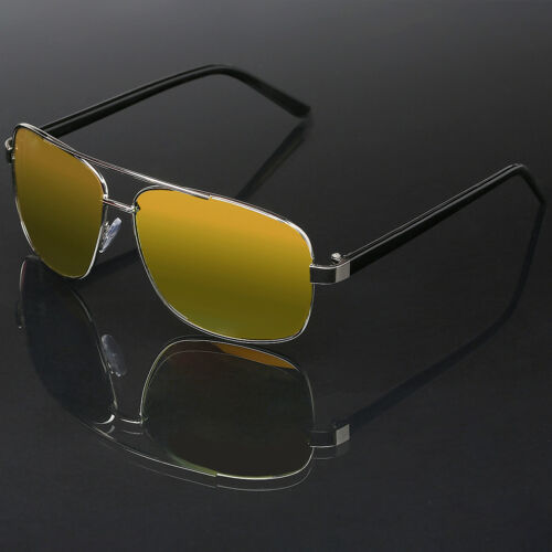 Square Frame Aviator Glasses Retro Vintage Fashion Men Women Mirrored Sunglasses