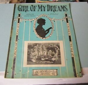 1927 Girl of My Dreams Sheet Music Guy Lombardo and His Royal Canadians Photo - Owings Mills, Maryland, United States - 1927 Girl of My Dreams Sheet Music Guy Lombardo and His Royal Canadians Photo - Owings Mills, Maryland, United States