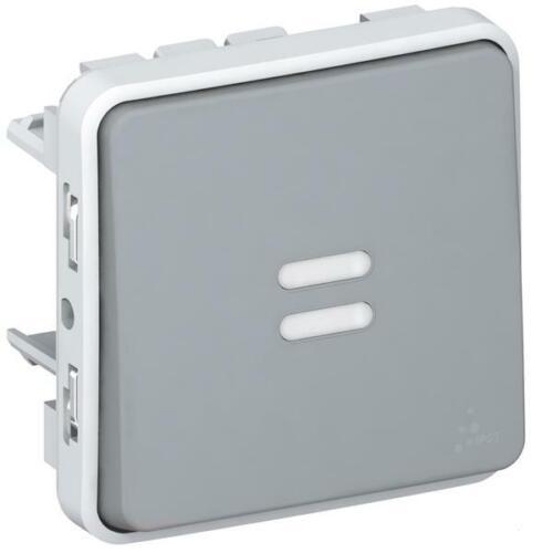 Legrand BTicino Interrupteur va et vient FR AP Plexo ip55 Gris 069513