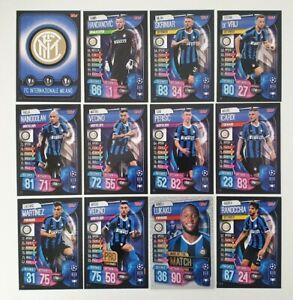 2019/20 Match Attax UEFA Soccer Cards - Inter Milan Team Set inc shiny (12 cards