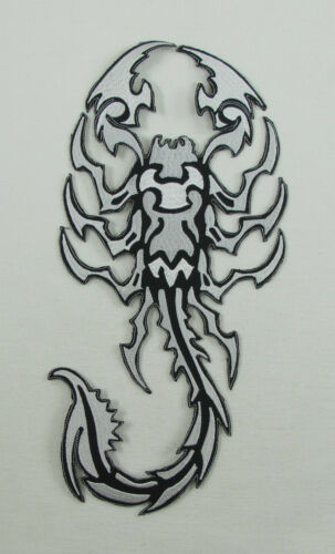SCORPION TATTOO EXTRA LARGE Embroidered Iron On On Sew On Back Patch