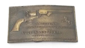 Details about Colt Navy 36 Caliber Pistol Belt Buckle - A Gift From Colt -  Made In England