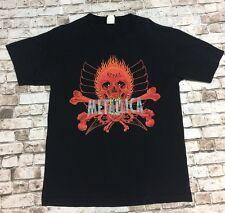 METALLICA Vintage T Shirt 90's TOUR Concert PUSHEAD SKULL Rebel L METAL BAND