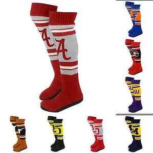 Ncaa College 2013 Womens Ladies Plush Knit Knee High Boot