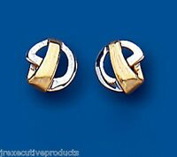 Gold Stud Earrings Two Colour Gold Studs White And Yellow Gold Earrings 7mm