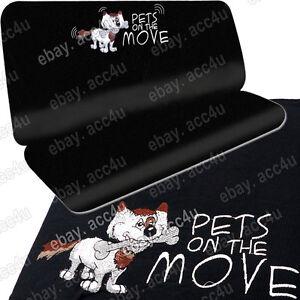 auto haustier katze hund schwarzer stoff wasserfest unterst tzung hinten ebay. Black Bedroom Furniture Sets. Home Design Ideas