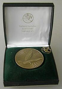 Temperamentvoll Medaille 33088 Pin Verband Deutscher Brieftaubenliebhaber E.v.