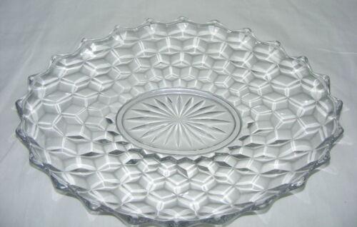 "Vintage American Fostoria Clear13"" Oval Torte Plate"