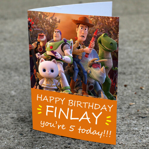 Toy Story Birthday Card Professionally printed and personalised to your needs