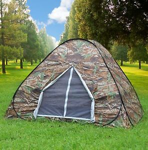Image is loading Camouflage-C&ing-Hiking-Easy-Setup-Instant-Pop-Up- & Camouflage Camping Hiking Easy Setup Instant Pop Up Tent 2-3 ...