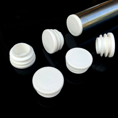 White Round Plastic Blanking End Caps Tube Pipe Inserts Plug Bung 16//19//22~50mm