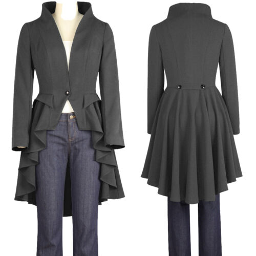 Tailcoat Uk 6 Steampunk Grey Jacket Victorian To Chic 28 Style Size Star wI0UqCCf