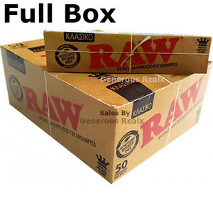 Full-Box-Raw-King-Size-Slim-Rolling-Papers-Smoking-Rolling-Papers-Box-Of-50
