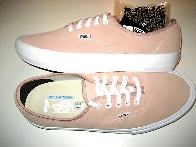 a726c05bd875 Vans Mens Authentic Pro Mahogany Rose Pink White Suede Skate shoes Size 13  NWT
