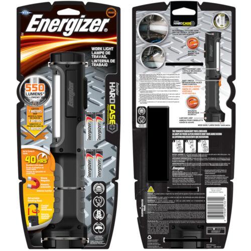 Energizer  HardCase  550 lumens Black  LED  Work Light Flashlight  AA Battery