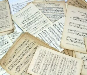 125g-OF-VINTAGE-MUSIC-SHEETS-CRAFTS-ART-DECOUPAGE-CHRISTMAS-CARD-MAKING