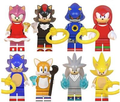 Collectible Super Series 8 Pcs Sonic The Hedgehog Minifigure Lego Moc Ebay