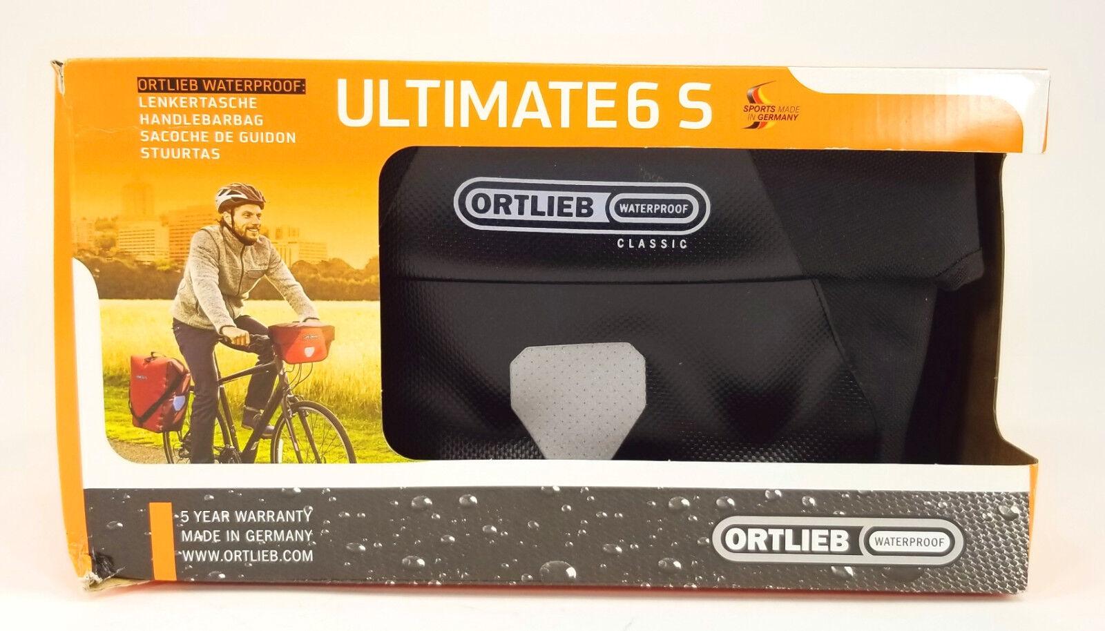 Ortlieb Ultimate6 S Classic Bicycle Handlebar Bag, Waterproof