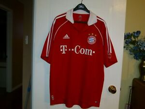 aca84b1c7 Vintage Adidas FC Bayern Munchen 2003 T Mobile Soccer Jersey   eBay