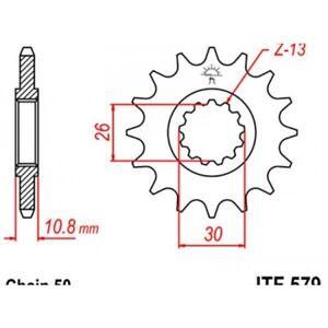 Pignon-acier-17-dents-jt-chaine-530-yamaha-yzf-r-1-Jt-sprockets-JTF579-17