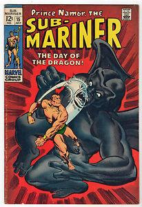 SUB-MARINER-15-VF-Marvel-1969-Dragon-Man-Marie-Severin-Prince-Namor-Roy-Thomas